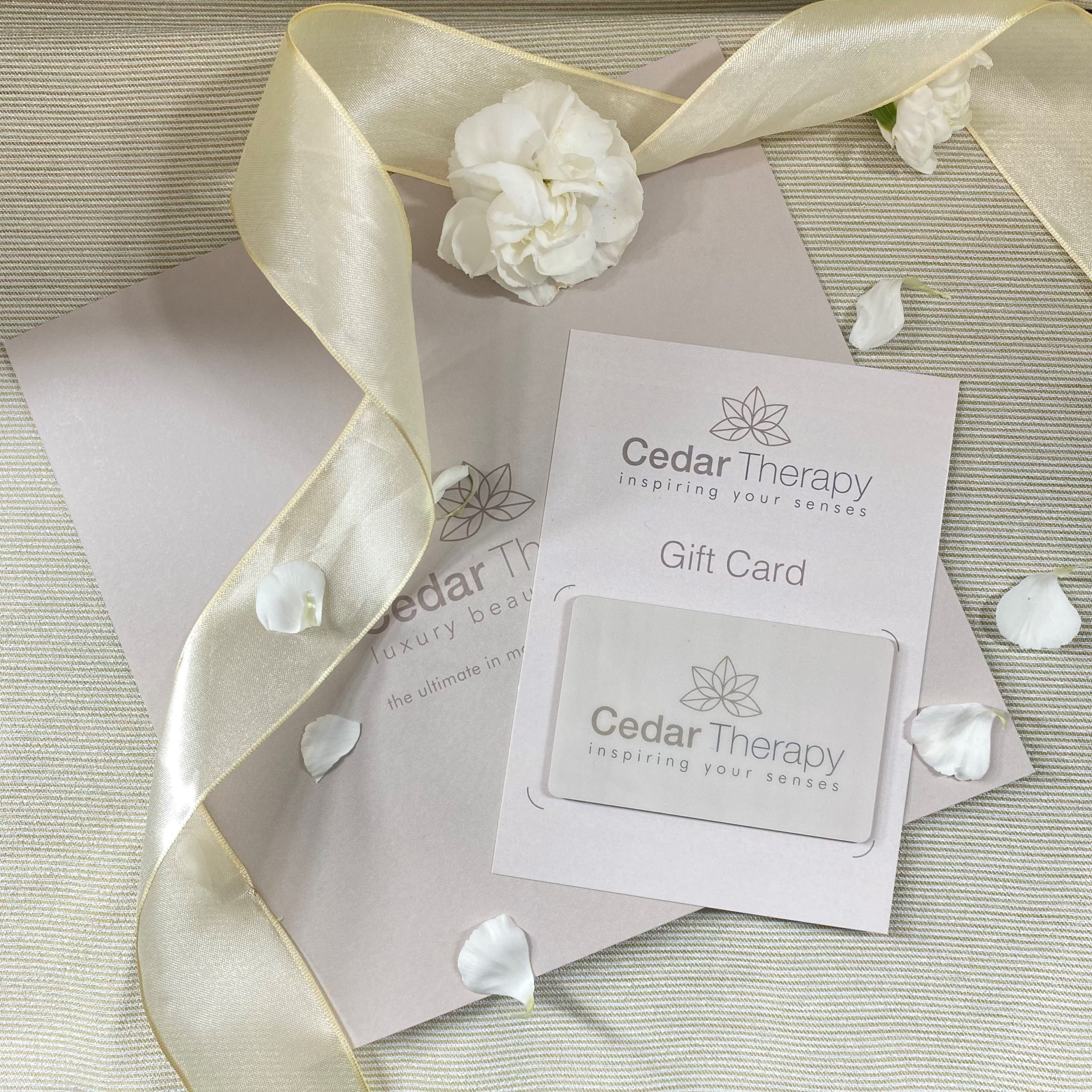 Basket for Gift Certificates at Cedar Therapy Luxury Beauty Salons